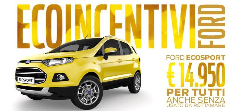 Ecoincentivi novembre 2016 Ford Ecosport